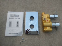 Thermostatic shower valve chrome built in valve