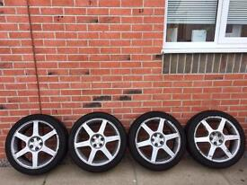 """Toyota celica 17"""" alloy wheels and tyres"""
