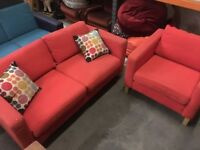 Free Sofa and armchair, needs pick up.