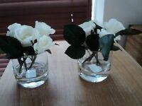 artificial flowers x 2