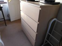 Ikea Balm Chest of Drawers Immaculate (4 Drawers)
