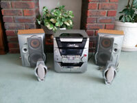 5 Disc CD player with radio and cassette