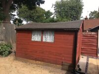 Garden shed for sale. Bargain price compared to present new cost.