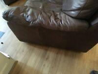 3 +2 seat leather sofa