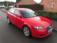 2006 Audi A3 Sport Sportback 2.0 TDI 140 bhp Quattro Red 5dr *FSH* x2 keys
