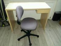 Desk with chair.
