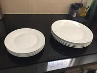 Dinner plate set white