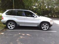 BMW X5 3.0 Diesel Sport, Silver, Black Leather, 20inch BMW alloys, DVD screens, Alpine Hifi