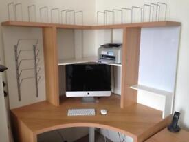Ikea corner desk and draws
