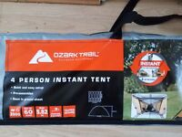I have pack unopened 4 person and 6 person tent for sale due to moving just 30 pound and 60 pound