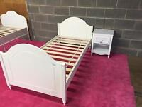 New single olly bed frame matching bed side