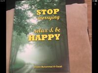 Stop worrying relax& be happy Islamic book is brand new £7.95