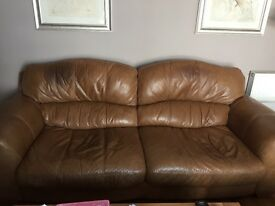 DFS real leather Sofa's, 3 Seater & 2 Seater