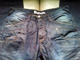 Mens Bench Jeans 34 regular