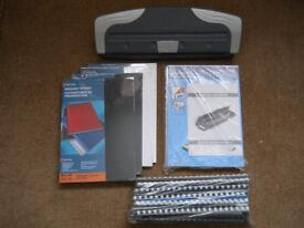 A4 Binding Machine, Starter Kit & Cover Packs