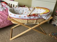 Mothercare 'Little Circus' Moses basket and stand