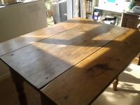 old pine table and chairs