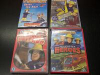 4 x Fireman Sam DVDs