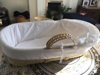 Moses basket - free to collect. Mattress included. All covers can be removed and washed.