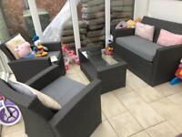 4 Piece rattan garden/conservatory set