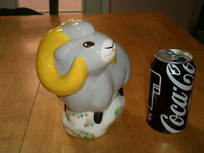 Wells Fargo Bank   Ram  3 D Ceramic Piggy Bank  Asian Made Bank Promotional Item