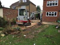 Mini digger and operator for hire, micro diggers, Experienced, CPCS operator