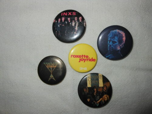Promotional Rock Band Buttons INXS Triumph Kingdom Come Roxette, Springsteen?