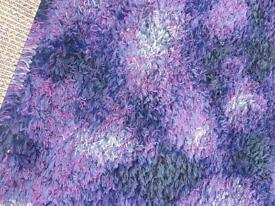 Ikea Gilda Blom purple Raggie style rug