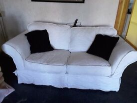 2 Seater and 4 seater deep cream Sofas