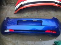 FIAT GRANDE PUNTO COMPLETE REAR BUMPER IN BLUE 599/A WITH LIGHTS 2006-2010