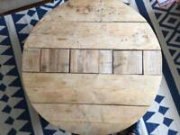 Reclaimed pine coffee table crouch end