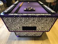 6ft x 3.5ft slate bed free play pool table