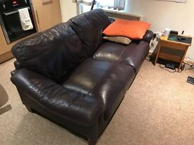 Brown Leather Sofa - Two seater