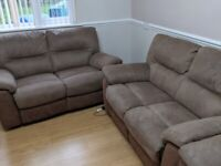 Mocha 2 x 2 seater and single seater power recliner