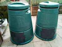 Two large compost bins