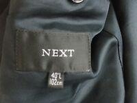 Men's Navy Suit. Next brand. Wool. 40L jacket 32L trousers size.