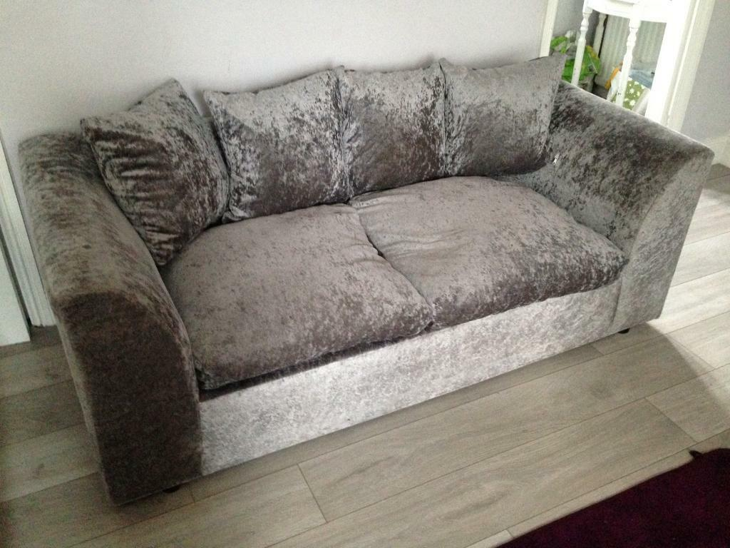 Crushed Velvet Small 2 3 Seater Sofas In Heybridge Essex Gumtree