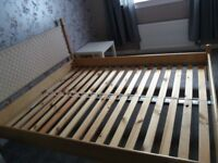 Ikea double bed frame with headboard
