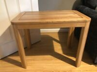 Natural solid oak table brand new