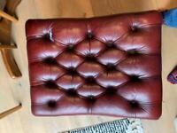 Antique Chesterfield Ottoman Leather Original