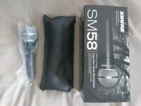 Shure SM58 microphone, brand new, boxed