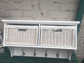 White coat hook storage unit £45