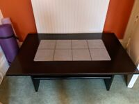 Wood and Tile Coffee Table - Free to Good Home Pick Up Only
