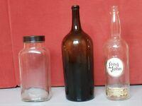 Large Bottles & Sweet Jar