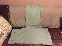 """Duck egg blue Tape Top pair of curtains 66"""" x 68"""""""