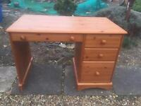 Pine desk. Dressing table