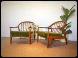 Retro/vintage danish style Greaves and Thomas armchairs