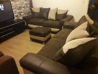Can deliver beautiful harveys 3+3 seater sofas and storage footstool excellent condition