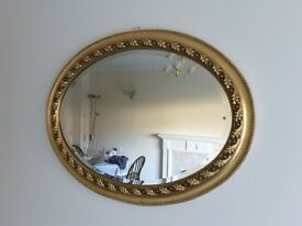 Gilt Oval Mirror