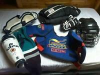 Ice hockey kit.